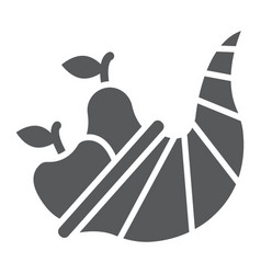 Cornucopia glyph icon harvest and food vector