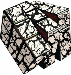 cracked cube vector image
