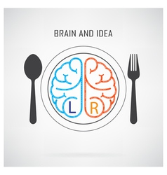 Creative left brain and right brain Idea concept b vector