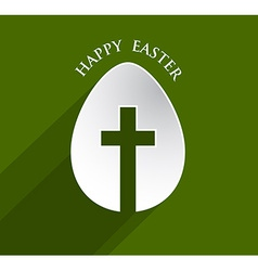 cross Easter egg vector image