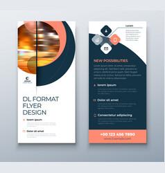 Dl flyer design coral business template vector