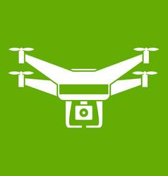 drone video camera icon green vector image