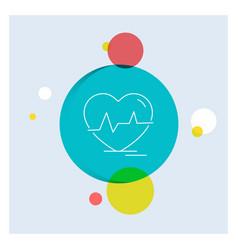 Ecg heart heartbeat pulse beat white line icon vector