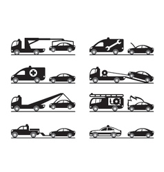 Emergency situations on road vector image