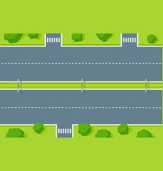 empty highway top view road asphalt vector image