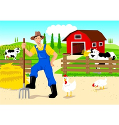 Farmer Cartoon vector