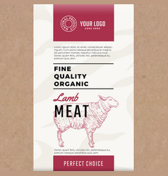 Fine quality organic lamb abstract meat vector