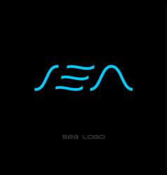 flat sea logo vector image