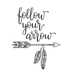 follow your arrow vector image