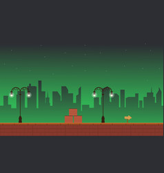 Game background street style with building vector
