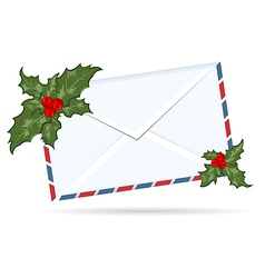 gift letter with christmas berry - vector image