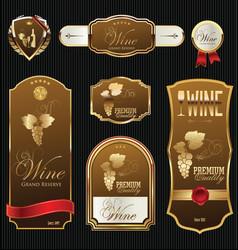 golden wine labels 2 vector image