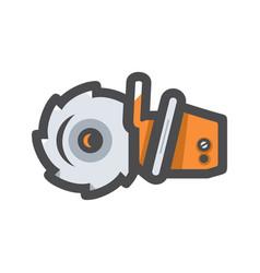 Grinder saw work tool icon cartoon vector