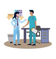 Healthcare medical cartoon vector