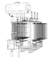 High-voltage transformer concept vector