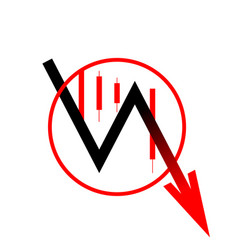 Icon arrow down move vector