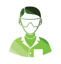 icon of chemist in eyewear vector image