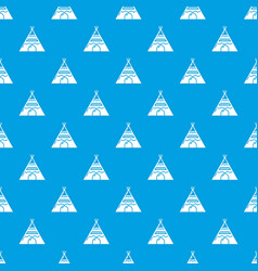 Indian tent pattern seamless blue vector