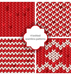 knitted patterns vector image