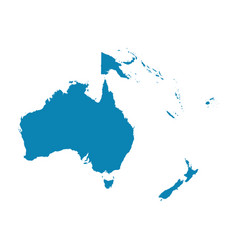 Map oceania on a white background flat vector
