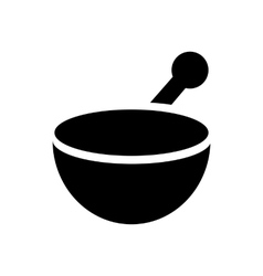 Mortar and pestle icon simple style vector