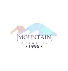 mountain original 1965 logo tourism hiking and vector image