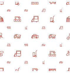 moving icons pattern seamless white background vector image