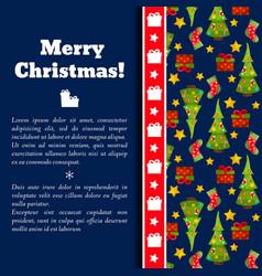 new year christmas card vector image