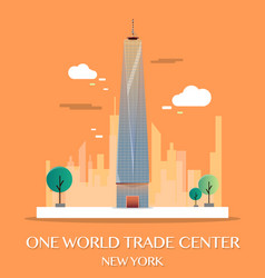 One world trade center vector