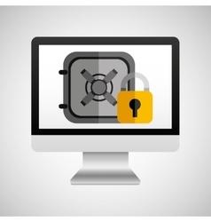 Online protection digital safe money vector