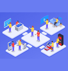 People and interfaces concept vector