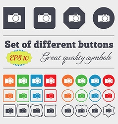Photo camera sign icon Digital photo camera symbol vector image
