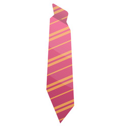 pink striped tie icon isometric style vector image