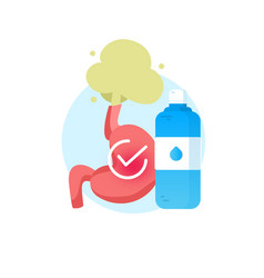 realistic human stomach icon with water vector image