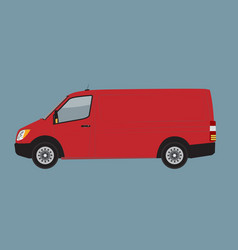 Red cargo business van mock up for brand and vector