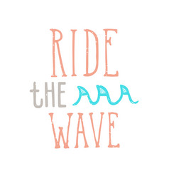 ride wave lettering vector image