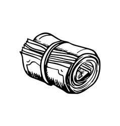 Roll of money sketch icon vector