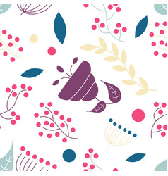 seamless floral pattern in vintage vector image