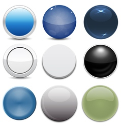 set 9 button styles vector image