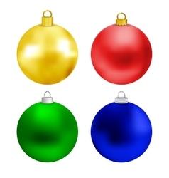 set colored christmas balls vector image