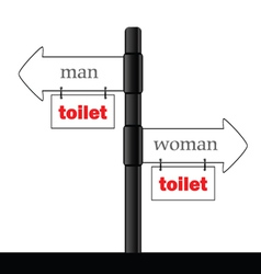 sign and guideline for toilet part two vector image