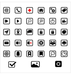 signs and symbol app vector image