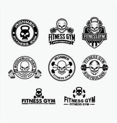 Skull fitness 1 vector