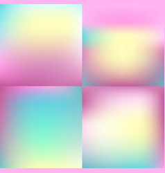 Sweet color blurred background set pastel color vector