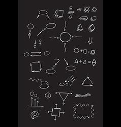 Thin hand drawn arrows talk bubble geometric shape vector