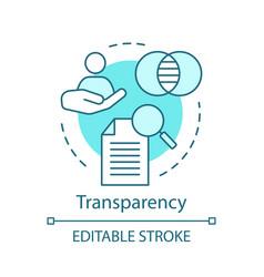 transparency concept icon vector image