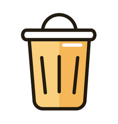 Trash can delete internet web technology interface vector