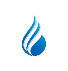 Water drop abstract logo vector