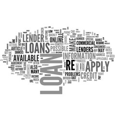 When and how to apply for a loan text word cloud vector