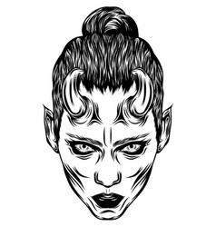 women dracula with glare eyes vector image